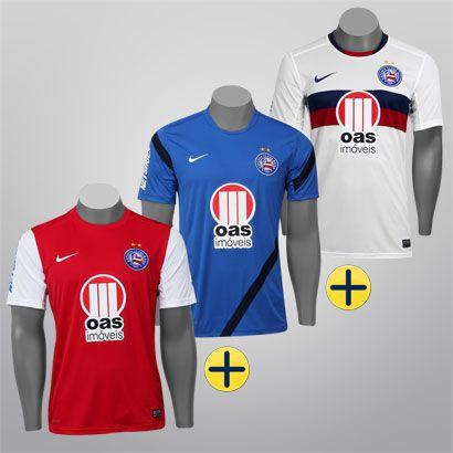 Kit Nike Bahia - Camisa I + Camisa III + Treino - Loja sport 73fd503263983